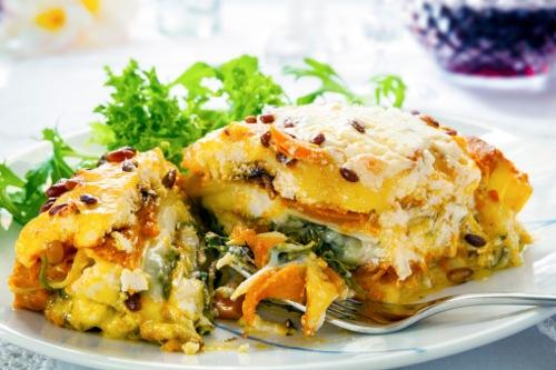 Lasagna de vegetales para olla de coccion lenta