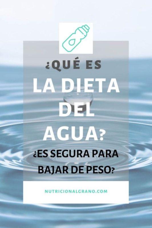 ¿Qué es la dieta del agua?
