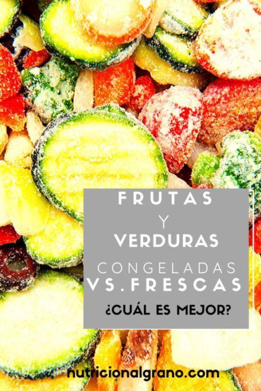 Frutas y verduras congeladas versus frescas
