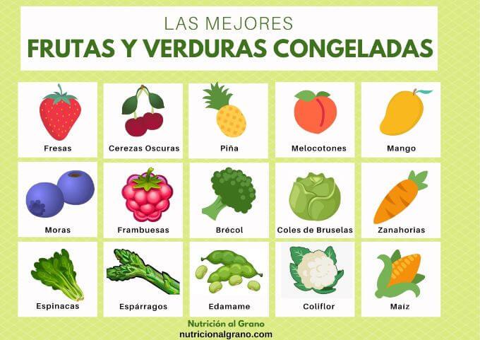 Las mejores frutas y verduras congeladas