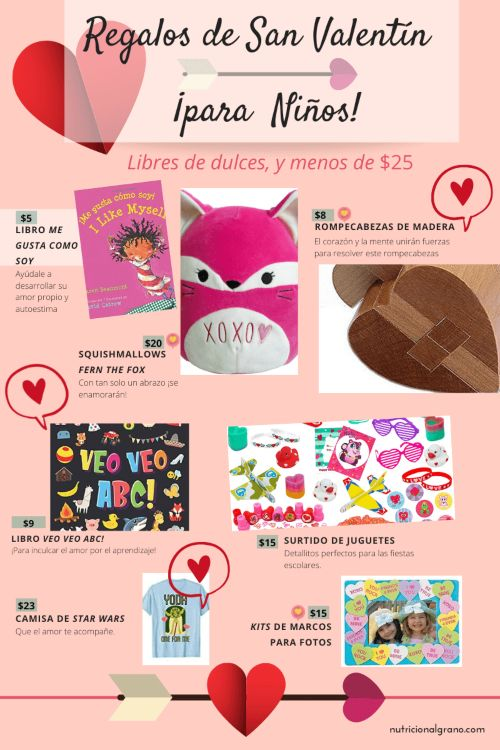 Regalos de San Valentín Para Niños Pinterest