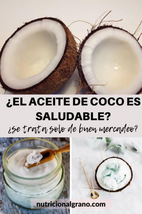 ¿El aceite de coco es saludable?