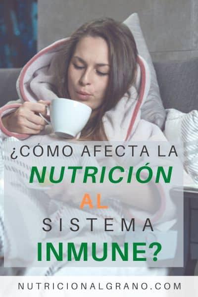 Imagen para Pinterest sobre nutrición y sistema inmune
