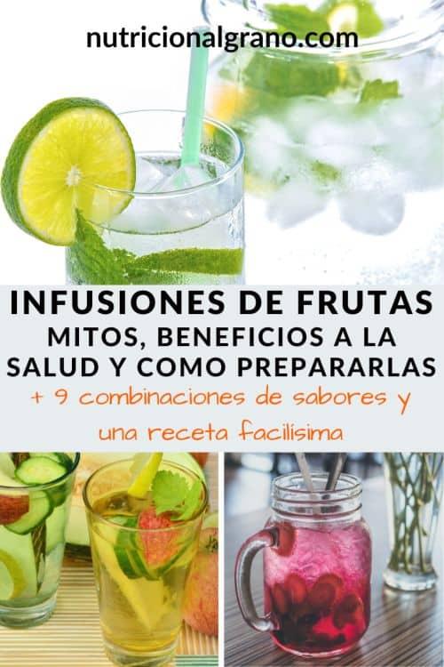 Como hacer infusiones de frutas e infusiones de agua