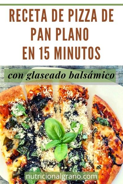 Pin de receta de pizza de pan plano