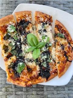 Receta de pizza de pan plano