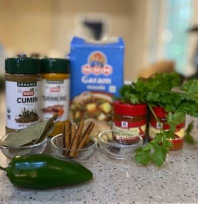 Especias para el curry chana aloo